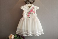 Wholesale 2016 in the summer of the new national wind girl little dress Chinese style dress Princess Dress zjh