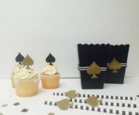 baby shower cake themes - Spade Casino theme cupcake toppers inserts cards food picks wedding baby bridal shower Cake Accessories decorations