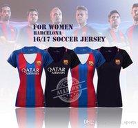 barcelona white jersey - 16 Top Thai Quality Women Barcelona Soccer Jersey Home Away MESSI ARDA A INIESTA SUAREZ I RAKITIC etc Soccer Jerseys