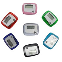 Wholesale Pocket LCD Pedometer Mini Single Function Pedometer Running Step Counter LCD Digital Walking LCD Counter With Box Package