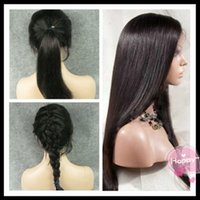 beautiful lace wigs - 2016 Beautiful Silk Straight Lace Front Wig fashionable lace front wig natural headline lace front wig with baby hair