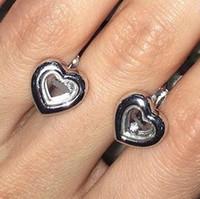 Wholesale Dancing Diamond chopar Sterling Silver Stud Earrings Women Fashion Jewelry for Wedding Engagement with CZ Diamond Jewelry
