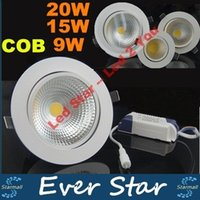Wholesale cob led downlight high power w w w dimmable led down lights recessed lamps angle ac v