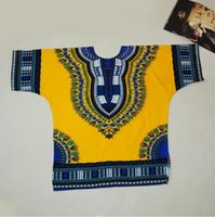 Wholesale Large size African Dashiki Dresses For Women Men African Clothes Hippie Shirt Caftan Vintage Unisex Tribal Mexican Top Ethnic Clothing
