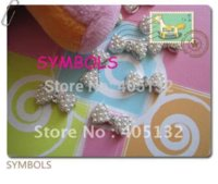 Wholesale MD D bag Big Pearl Bow Crystal Rhinestone Metal Nail Decoration Lovely Outlooking Nail Art Decorations