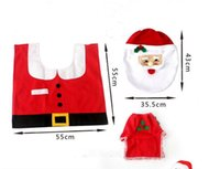 Wholesale 2016 Fancy Santa Toilet Seat Cover and Rug Bathroom Set Contour Rug Christmas Decorations For Natal Navidad Decoracion