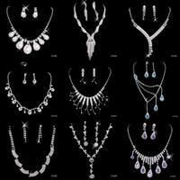 asian jewellery - Sparkle Jewelry Crystal Rhinestones for Prom Party Event Wedding Jewellery Sets Necklace Drop Earrings Bridal Accessories New