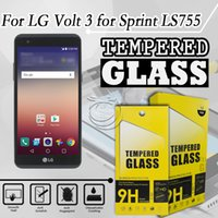 alcatel mobile accessories - Tempered Glass Screen Protector For LG VOLT LS755 X SKIN Alcatel Stellar TRU X STYLE X5 Mobile Phone Accessories with packing