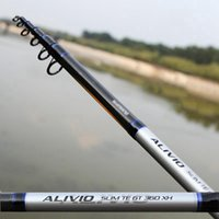 Wholesale Brand Fishing Rods M M Carbon Telescopic Fishing Rod Saltwater Long Shot Spinning Fishing Pole Trolling Rod Pesca Tackle
