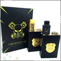 best underground - Best Underground Box Mod Kit Mech Mod with Underground RDA Gold Black Colors Fit Battery Thread E Cigarette DHL Free