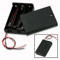 battery holder aa switch - by DHL Battery Cover Box Plastic Black AA Battery Holder Case With Switch