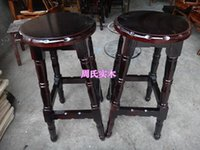 Wholesale Carbonized wood burning European style multicolor bar stool chairs high chair priced at direct OEM