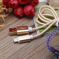 Wholesale Bastec Original Fashion Nylon Line and Metal Plug Micro USB Cable for iPhone s Plus s iPadmini Samsung Sony