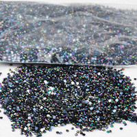 Wholesale New pack mm mm Clear Nail Art Rhinestone Decoration Glitter For DIY Tips Decoration