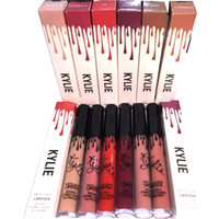 Wholesale Newest Kylie Lip Kit by kylie jenner Lipstick Kylie Lip Gloss liquid lipstick Matte colors lipliner Make up Cosmetic