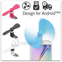 Wholesale 5x Portable Micro USB Phone Mini Fan with Two Leaves for Samsung Galaxy S7 S6 S5 NOTE Other Mobile Phone with OTG
