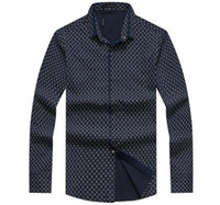Wholesale Autumn New Arrival Famous Personality Design Plaid Style Slim Fit Mens Casual Fashion Long sleeved shirt Hot Sale