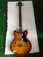 Wholesale top quality factory custom G jazz flame maple body strings electric bass guitar musical instrument shop retail