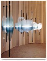 atlas lighting - Venice Flow Chandelier Modern Creative Art Color Atlas Flow Light Blue White Glass Pendant Light Hotel Bar Office Light