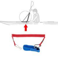 Wholesale Hot New BRAND NEW KAYAK COILED ROD PADDLE LEASH CANOE BOAT SAFETY LANYARD FISHING M ML1613
