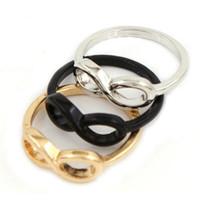 band ti - 20pcs Fashion Gold Silver Black Women s Ti Alloy Roman Numeral quot quot Infinity Ring women fashion jewelry brand New