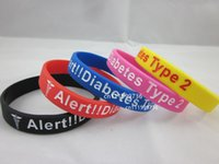 Jelly, Glow american medical - 50pcs Type Diabetic Medical Alert Silicon Febossed Wristband Bracelet