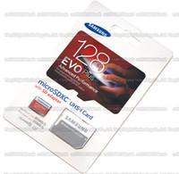Wholesale DHL shipping GB GB GB GB Samsung EVO Plus micro sd card Class10 smartphone TF card C10 Tablet PC Storage card Cellphone