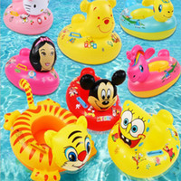 Wholesale Cartoon Circle Kids Cartoon Animal Inflatable Water Toys Child Swim Float Boat Seat Baby Swimming Ring
