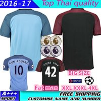 Wholesale Top quality new Manchester Home Away Jerseys DZEKO KUN AGUERO KOMPANY TOURE YAYA DE BRUYNE Shirt