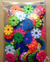 Wholesale snowflake blocks DIY Change splicing intelligence fancy toy