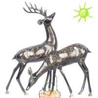 Wholesale A couple of brass handmade crafts decorative wedding gift of Home Furnishing deer deer
