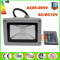 Wholesale Outdoor Led RGB Floodlights watt W W W RGB Led Flood Garden Lights Landscape Lighting waterproof color Red Green Blue Yellow White