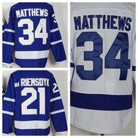 Wholesale Matthews Hockey Jerseys Blue Men Hockey Jerseys van RIEMSDYK Gilmour Lupul Clark Cheap Hockey Jersey Discount Sale
