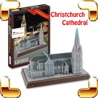architecture church - New Year Gift The Christchurch Cathedral D Puzzle Gothic Architecture Building Paper Model Church Puzzle DIY Collection Toys