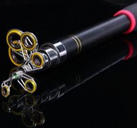 Wholesale 2 M M M Portable Telescopic Fishing Rod Travel Spinning Fishing Pole Glass Fiber Sea Rod Fishing Tackle Tools hight quality