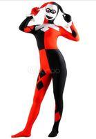 Men batman villains - Unisex Spandex Lycra Batman Villain Harley Quinn Zentai Costume Bodysuit