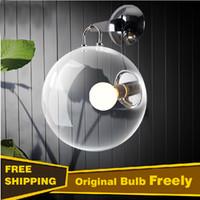 ball class - Bulb Freely Italian design glass ball wall lamp soap bubbles Transparent High Class lampara de pared