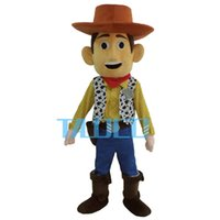 Wholesale Cowboy Woody Mascot Costume Toy Story Sheriff Woody Fancy Dress