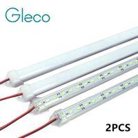 Wholesale 2pcs cm LED bar light DC12V LED Hard Rigid LED Strip Bar Light with U Aluminium shell pc cover