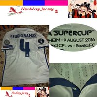 august cup - TRONDHEM AUGUST super cup SERGIO RAMOS ASENSIO player version jersey customize patches