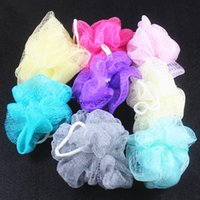 Wholesale Multicolour bath ball bathsite bath tubs Cool ball bath towel scrubber Body cleaning Mesh Shower wash Sponge product pc U50
