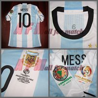 america patch - Copa America final Match Worn Player Issue Messi Aguero Di Maria Football Rugby Custom Patches Sponsor