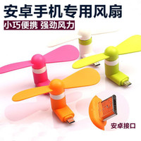 Wholesale OTG Android iphone Phone Fan Xiaomi th Micro USB MINI Portable Fan For Android Smart Phone Port Laptop Desktop
