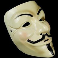 Wholesale Masquerade Masks For Vendetta Anonymous Valentine Rubie s Costume Co V for Vend Party Masks V for Vendetta Mask Anonymous Guy Fawkes