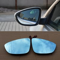 Wholesale For Volkswagen CC Car Rearview Mirror Wide Angle Hyperbola Blue Mirror Arrow LED Turning Signal Lights