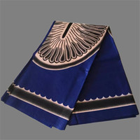 african wax prints - Excellent royal blue with nice print party apparel material African wax fabric for evening dress WF448 yards