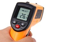 Wholesale GM320 Digital Infrared Thermometer Non contact Temperature Tester Laser Gun Device Yellow and black
