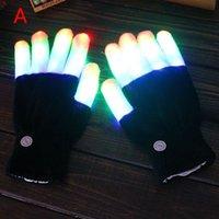Wholesale Flash Color changing LED Glove Halloween christmas led finger light gloves light up glove For Party favor music concert