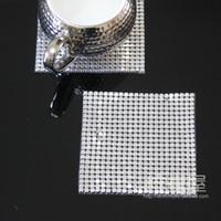 aluminum coasters - European style luxury table pad pad Western style food bowl insulation pad pad ashtray Silver mm aluminum sheet metal Coasters