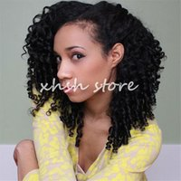 Wholesale Kinky curly lace front human hair wigs unprocessed full lace wigs with baby hair glueless bleached knots front lace wigs